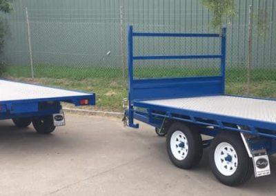 blue trailers